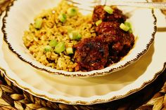 North African Meatballs :http://www.brucebarone.com/recipes/north-african-meatballs/