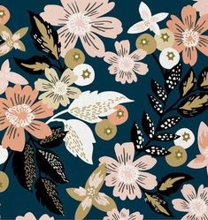 Fiverr freelancer will provide Illustration services and design attractive seamless textile patterns within 4 days Motifs Textiles, Textile Patterns, Flower Patterns, Print Patterns, Art Et Illustration, Pattern Illustration, Floral Illustrations, Surface Pattern Design, Pattern Art