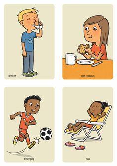 drinken eten (voedsel) beweging rust Health Activities, Activities For Kids, Alphabet Coloring Pages, All Schools, Teaching Materials, Social Skills, Coaching, Kindergarten, Preschool