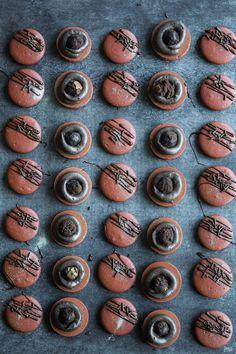 Chocolate Brownie Macarons | Jam Lab