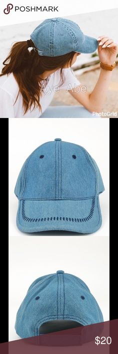 BASIC DENIM BASEBALL CAP WITH STITCH ACCENT sold BASIC DENIM BASEBALL CAP WITH STITCH ACCENT.100% COTTONVELCRO ADJUSTABLE BACK. Accessories Hats