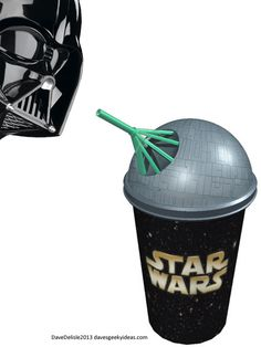 This Star Wars Death Star Slurpee would probably be worth the price of a beverage at the cinema and would still have me going back for seconds.if there were free refills Star Wars Love, Star War 3, Death Star, Nerd Love, The Force Is Strong, Bad Feeling, Star Wars Humor, Love Stars, Geek Out