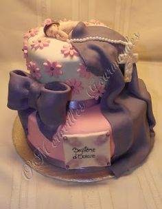 O'Merveilles Gourmandes: gâteau choco baptême fille