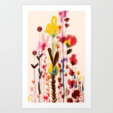 Art Print featuring Viva Glow by Sylvie Demers