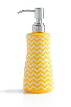 Chevron Yellow Soap Dispenser by Shiraleah on @HauteLook
