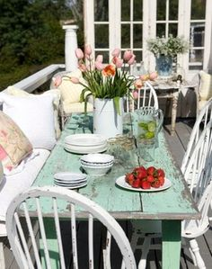 lovely #shabby #porch #dining