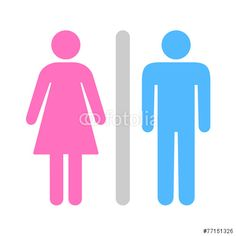 Vector: A Man and a Lady Toilet icon great for any use. Vector EPS10.