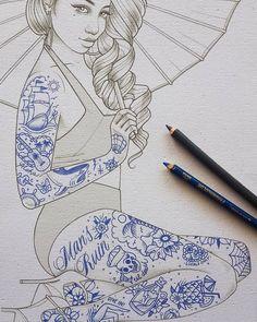 Tattoo design by Rik Lee. Check http://vk.com/art_tendencies for more similar artworks.