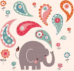 cute fabric. I don't know what I would do with it, but who can resist elephants?