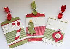 Elaine's Creations  Christmas Tags