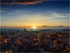 Rising Sun over Las Palmas City by kaslito-d5feonn