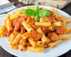 Pâtes aux Knaki®, sauce tomate au parmesan : http://www.fourchette-et-bikini.fr/recettes/recettes-minceur/pates-aux-knakir-sauce-tomate-au-parmesan.html