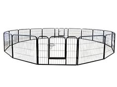 PetDanze Dog Pen Metal Fence Gate Portable Outdoor Heavy Duty Outside Pet Large Playpen Exercise RV Play Yard Indoor Puppy Kennel Cage Crate Enclosures 32 Height 16 Panel >>> You can get more details by clicking on the image. (This is an affiliate link) Large Playpen, Cat Playpen, Cat Fence, Fence Gate, Heavy Duty Dog Crate, Outside Dogs, Dog Pens Outside, Puppy Kennel, Cat Exercise
