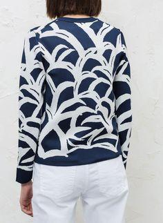 Figurbetonter Pullover mit Palmen - Pullover und Cardigans - READY TO WEAR  - Uterqüe Deutschland Palmen bf9e5cd53d