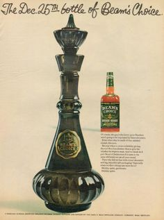 I Dream of Jeannie bottle was painted and made from a decanter of 1964 Jim Beam Whiskey
