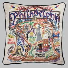 Philadelphia throw pillow. I've wanted this for a while, but it's like $140!!