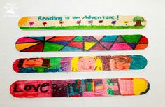 easy craft stick bookmarks for kids to personalize and enjoy this summer while reading