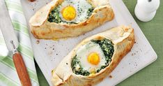 Turn the everyday into something special with these tempting and filling spinach, cheese and egg pies.