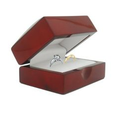 Cherry Wood Double Ring Jewelry Gift Box Geff House. $12.49. Beautiful white interior. Great wedding or engagement ring box. Enhance your jewelry with this beautiful cherry wood ring box. Glossy exterior finnish