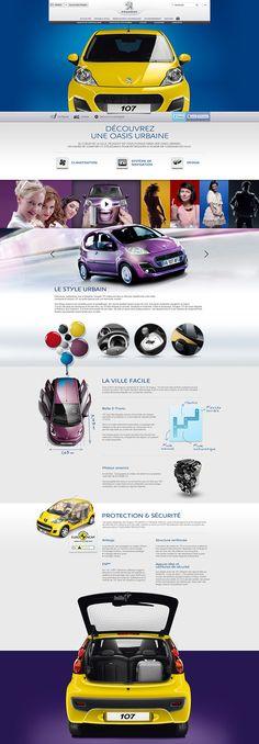 Unique Web Design, Peugeot 107 #WebDesign #Design (http://www.pinterest.com/aldenchong/)