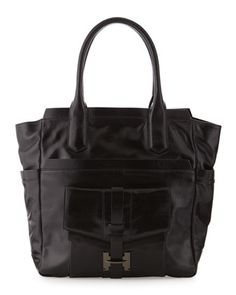 Large Envelope-Pocket Tote, Black by Halston Heritage at Last Call by Neiman Marcus.