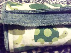 Urban Zoologie Turtles Minky Baby Blanket by SnuggleBugZZZ by phoebe