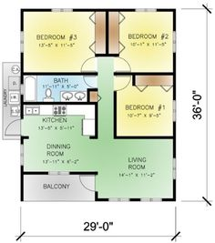 Perfect This Modern Design Floor Plan Is 974 Sq Ft And Has 3 Bedrooms And Has  Bathrooms.