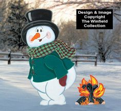 winter warm up woodcraft pattern - Christmas Yard Decorations Patterns