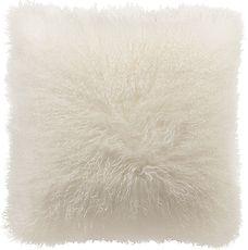 Mongolian Square Toss Cushion - Cream