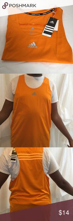 Adidas Response Running ClimaLite Tank Top NWT Regular fit. Polyester double knit fabric. Racetrack with reflective detailing for visibility. Fabric designed to keep your dry and comfortable. Tank is NWT Adidas Shirts Tank Tops