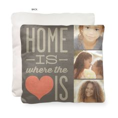 Love this!  ... Home and Heart Pillow by Shutterfly