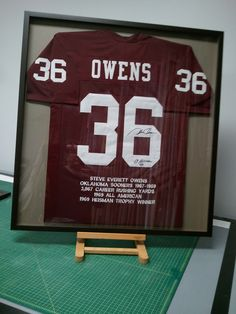 Framed Oklahoma Sooner Jersey for the Heisman Trophy Winner FastFrame of Annapolis