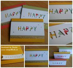 Neuer Schwung Geburtstagskarten für die Aprilkinder :-) - Stempelklecks - Stempeln, Stanzen und Basteln mit Stampin' Up! -