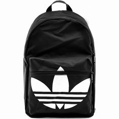 ADIDAS+BACKPACK+CLASSIC+TREFOIL+Black-White+daypack+college+school+sports+new+#adidas+#Backpack
