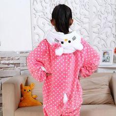 b45e10df999 Cartoon Baby Boys Girls Bird Panda Children Pajamas Flannel Stitch Animal  Pajamas Kids Pajama Sets Onesies