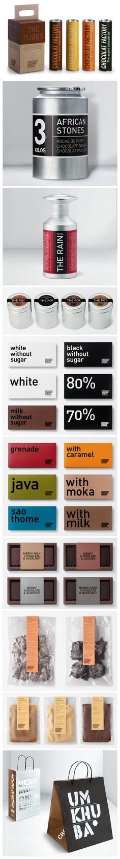chocolat factory packaging. design credit, ruiz+company.