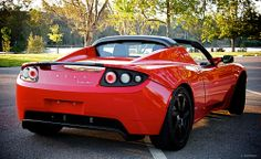 Luscious Red #Tesla Roadster #green #spon