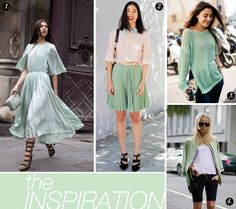 mint green - beautiful color to wear!