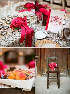 bodas estilo mexicano | Decoración de boda en color rosa mexicano - Foto Aaron Delesie
