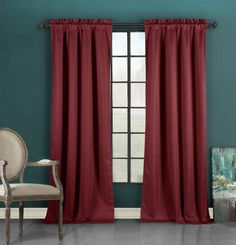 Liam curtain panels in burgundy by Duck River Textile