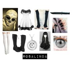 """""""creepypasta proxy (oc)"""" by ironically-a-strider21 ❤ liked on Polyvore featuring Calavera and Forever 21"""