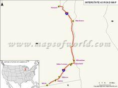 Interstate I Map USA San Ysidro California To Blaine - Map of the us interstates