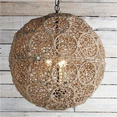 """3x40watt candle base lamp max. (18""""Hx18""""W) Supplied with 6' of bronze chain and 5"""" round bronze."""