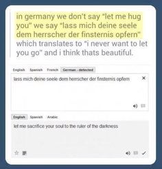 German Was Always Such a Romantic Language