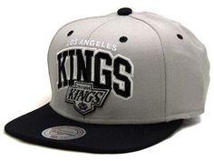 Boné Mitchell   Ness Snapback NHL Los Angeles Kings Cinza-Preto - Boné Mania 777dd830dfc