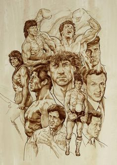 Sylvester Stallone by NachoCastro on DeviantArt Sylvester Stallone Rambo, Rocky Balboa, Chuck Norris, Silvestre Stallone, Stallone Rocky, Claude Van Damme, Cinema Tv, Celebrity Caricatures, Movie Poster Art