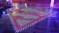 Any image can be displayed on The Colour Commander LED dance floor.  The FX team  www.littlegemfx.co.uk