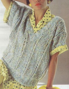 Vintage Knitting Pattern Instructions to Make a Ladies Chunky Jumper Sweater