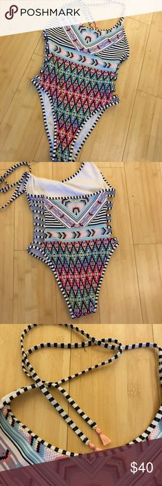 Victoria's Secret one piece bathing suit New condition high on the hip area cheeky Victoria's Secret Swim One Pieces