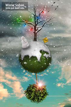 Beautiful Christmas Artwork and Photos Manipulation Tutorials in Photoshop